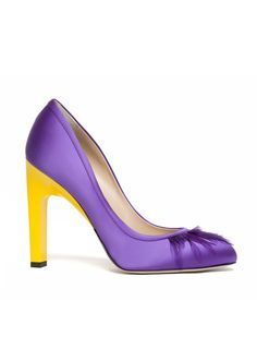 COLECTIA DE PANTOFI PRIMAVARA -VARA 2016 PAUL ANDREW-UN VIS Yellow Shoes, Purple Yellow, Paul Andrew, Pumps, Heels, Stylish, Crystal, Fashion, Heel
