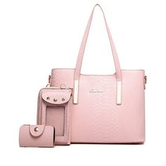 Metal PU Leather Snake Embossed Shoulder Bag Pink (140 BRL) ❤ liked on Polyvore featuring bags, handbags, shoulder bags, snake embossed handbags, shoulder bag handbag, pink purse, metal purse and pink handbags