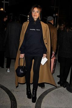 a hoodie with your camel coat