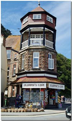 Lynton & Lynmouth, North Devon, England.    In Victorian times Lynton & Lynmouth were fondly known as 'Little Switzerland'.