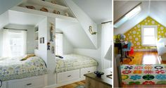 Beyond words Narrow attic bedroom ideas,Attic remodel near me and Attic renovation new orleans. Bunk Rooms, Attic Rooms, Bunk Beds, Twin Beds, Attic Bathroom, Attic Playroom, Attic Apartment, Attic Office, Trundle Beds