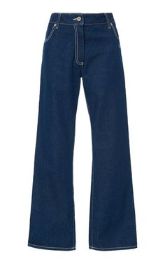 Off-White c/o Virgil Abloh Mid-Rise Flared Wide-Leg Jeans Wide Leg Denim, Blue Denim, Best Jeans For Women, Cool Outfits, Fashion Outfits, Perfect Jeans, Vogue, Jeans Style, Aesthetic Clothes