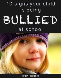 Is your child being bullied at school? Here are 10 warning signs, and what to do. Please repin so other parents can read this!: