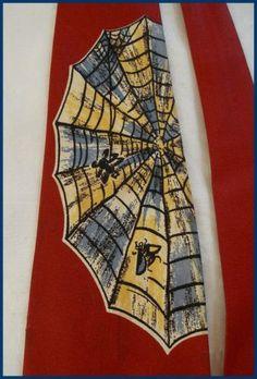 Vintage-1940-1950-Tie-Necktie-Fly-In-Spiderweb-Lot-36