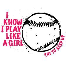 Play Volleyball Like a Girl Ornament (Round).Girl Power at its best in this… Funny Softball Shirts, Funny Softball Quotes, Softball Crafts, Volleyball Quotes, Softball Pictures, Girls Softball, Softball Players, Fastpitch Softball, Funny Quotes
