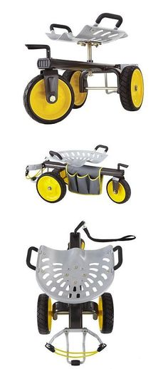 Garden Kneelers Pads And Seats 75669: Gorilla Carts Rolling Garden Scooter  Seat Portable Tool Outdoor Tray New Yard  U003e BUY IT NOW ONLY: $88.99 On Eu2026