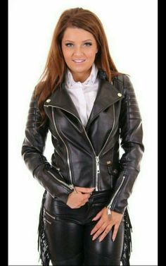 Dressed to A Whetted Edge! Long Leather Coat, Black Leather, Leather Jackets, Biker Leather, Real Leather, Leather Pants Outfit, Leder Outfits, Cute Jackets, Leather Fashion