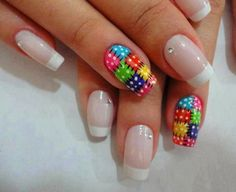 Find images and videos about nails and unhas on We Heart It - the app to get lost in what you love. Love Nails, Fun Nails, Pretty Nails, Cute Nail Art, Gel Nail Art, Nail Nail, Acrylic Nails, Nail Polish, Glam Nails
