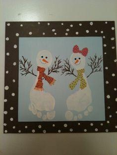 Easy And Fun Christmas Crafts For Kids - Handprint And Footprint Art Easy And Fun Christmas Handprint And Footprint Crafts For Kids Baby Crafts, Preschool Crafts, Kids Crafts, Fun Christmas Activities, Holiday Crafts For Kids, Footprint Crafts, Hand Art, Kids Christmas, Creations