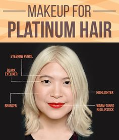 And if you change your hair color so dramatically, it's a good idea to adjust your makeup too.