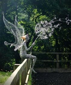Fantasy Wire Fairy Sculptures by Robin Wight   Asylum Art by rosebud2