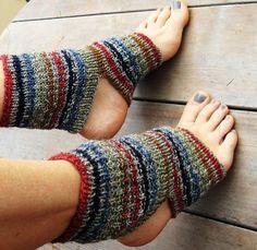 NEW HandKnit Striped Yoga Socks Dance Socks by CreativeHandBoston, $35.00