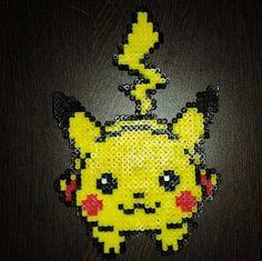 Pikachu Mini Perler Bead Art