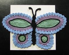 Ravelry: CaraLouise's Butterfly Potholder- size 3 thread version