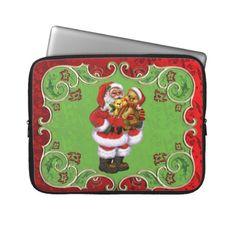 Christmas Santa 15in laptop sleeve