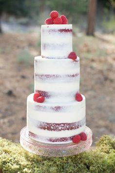 Woodland Rustic Wedding Cake