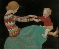 The Playful Child -- by Jessie Willcox Smith (American, 1863–1935)