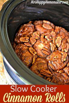 Slow Cooker Cinnamon Rolls + Plus WIN a Gooseberry Patch Cookbook! - Mrs Happy Homemaker