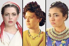 """Stylist who's a self-styled """"hair archeologist"""" re-creates ancient hairstyles."""
