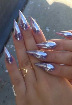 21 cool and trendy stiletto nail art designs Glam Nails, Hot Nails, Fancy Nails, Beauty Nails, Nails 2016, Trendy Nails, Stiletto Nail Art, Acrylic Nails, Gel Nails