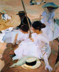 Titulo de la imágen Joaquin Sorolla - Bajo el parasol en Zarauz