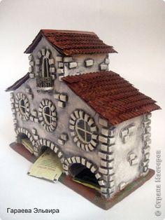 Поделка изделие День рождения Лепка Моделирование конструирование Чайный домик Картон Тесто соленое Фольга фото 7