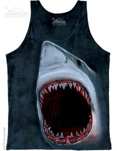 The Mountain - Shark Bite Mens Tank Top, $24.00 (http://shop.themountain.me/shark-bite-mens-tank-top/)