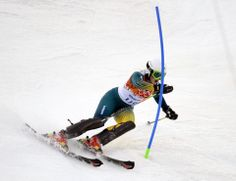 DAY 15:  Greta Small of Australia competes during the Alpine Skiing Women's Slalom http://sports.yahoo.com/olympics