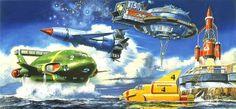 Thunderbirds are GO!: Sci-fi illustrations by Shigeru Komatsuzaki
