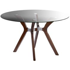 Art deco meets modern in this Dark Walnut Dining Table. Smooth bending lines complement the round surface to form an aesthetically pleasing piece of furniture that you will appreciate for years to come.