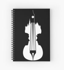 sherlock violin big ben Spiral Notebook