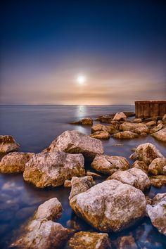 Moonrise Over Lake Ontario - Toronto, Canada