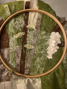 #textileartiststitchclub Elderflower for compassion hawthorn for hope