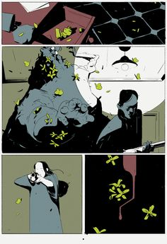 Hypochondria, another comic of just three pages and no text. Comics Story, Bd Comics, Mike Mignola Art, Comic Layout, Manhwa, Arte Obscura, Western Comics, Comic Book Pages, Comic Panels