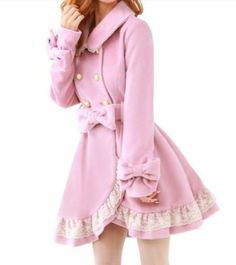 Cosplay Sweet Lolita Bowknot Princess Coat Pink/Black/Brown/White Liz Lisa Style