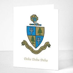 """Sorority Girl Store - """"Crest"""" Note Cards"""