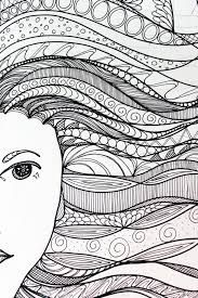 easy zentangle patterns for kids - example (advanced)