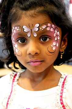 When you think about face painting designs, you probably think about simple kids face painting designs. Many people do not realize that face painting designs go Princess Face Painting, Girl Face Painting, Face Painting Designs, Painting For Kids, Paint Designs, Face Paintings, Simple Face Painting, Belly Painting, Face Painting Flowers