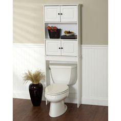 Well Groomed White Bathroom E Saver Over Toilet Cabinet With Two Style Por Home Interior Decoration