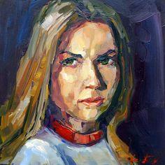 "Saatchi Art Artist Jurij Frey; Painting, ""Model"" #art"