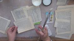 Mini libro alterado by Wilma Rodriguez. un taller de cómo alterar un mini libro - shows how to cover a board book with book text paper