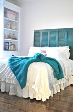 between you & me: shutters as headboard