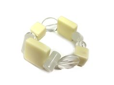 Cream cubes One Button bracelet #creamwhites #bracelet #accessories #onebutton Click to buy from the One Button shop. Button Necklace, Cubes, Brooch, Buttons, Cream, Bracelets, Earrings, Stuff To Buy, Shopping