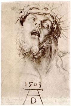 The dead Christ with the crown of thorns - Albrecht Durer