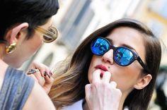 #spektresunglasses during Cadenzza shooting #eleonoracarisi #mirrorsunglasses