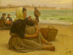 Waiting for the boats (1892) - Marques de Oliveira (1853-1927)