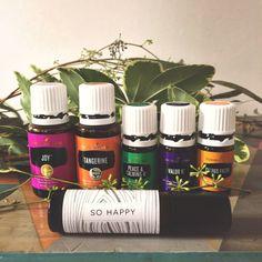 "DIY ""SO HAPPY"" Blend - Young Living Essential Oil. www.essentiallyinloveblog.com"