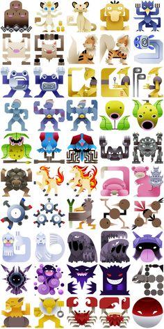 The Original 151 Pokemon, Redone As Monster Hunter Icons Pokemon Go, Pokemon Luna, Pokemon Fan Art, Pokemon Fusion, Pikachu, Hunter Pokemon, All 151 Pokemon, Monster Hunter, Evolution Pokemon