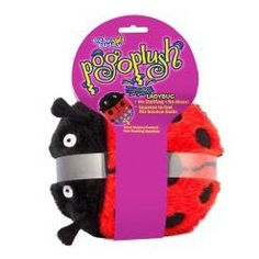 Premier Pogo Plush Ladybug dog toy is simply irresistible!    The patent pending design provides a unique bounce-back action that dogs prefer over traditional stuffed plush toys.    These toys are stuffing free, so there's no mess if your dog likes to destroy plush toys!    Pogo Plush toys are built with inner bouncy frames and free-floating squeakers that will give your dog hours of fun.