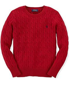 "Product review for Ralph Lauren Boys' Cable-Knit Sweater.  A versatile essential, Ralph Lauren's cable-knit cotton sweater layers easily over tees, polo shirts and sport shirts. Whether worn with jeans or dress pants, it's always stylish.   	 		 			 				 					Famous Words of Inspiration...""Every adversity, every failure, and every..."